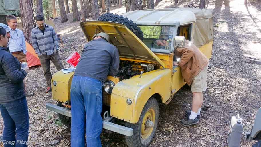 Inspecting Ike's 109 Series I pickup.